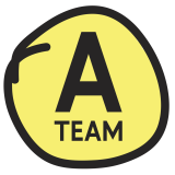 A Team logo yellow